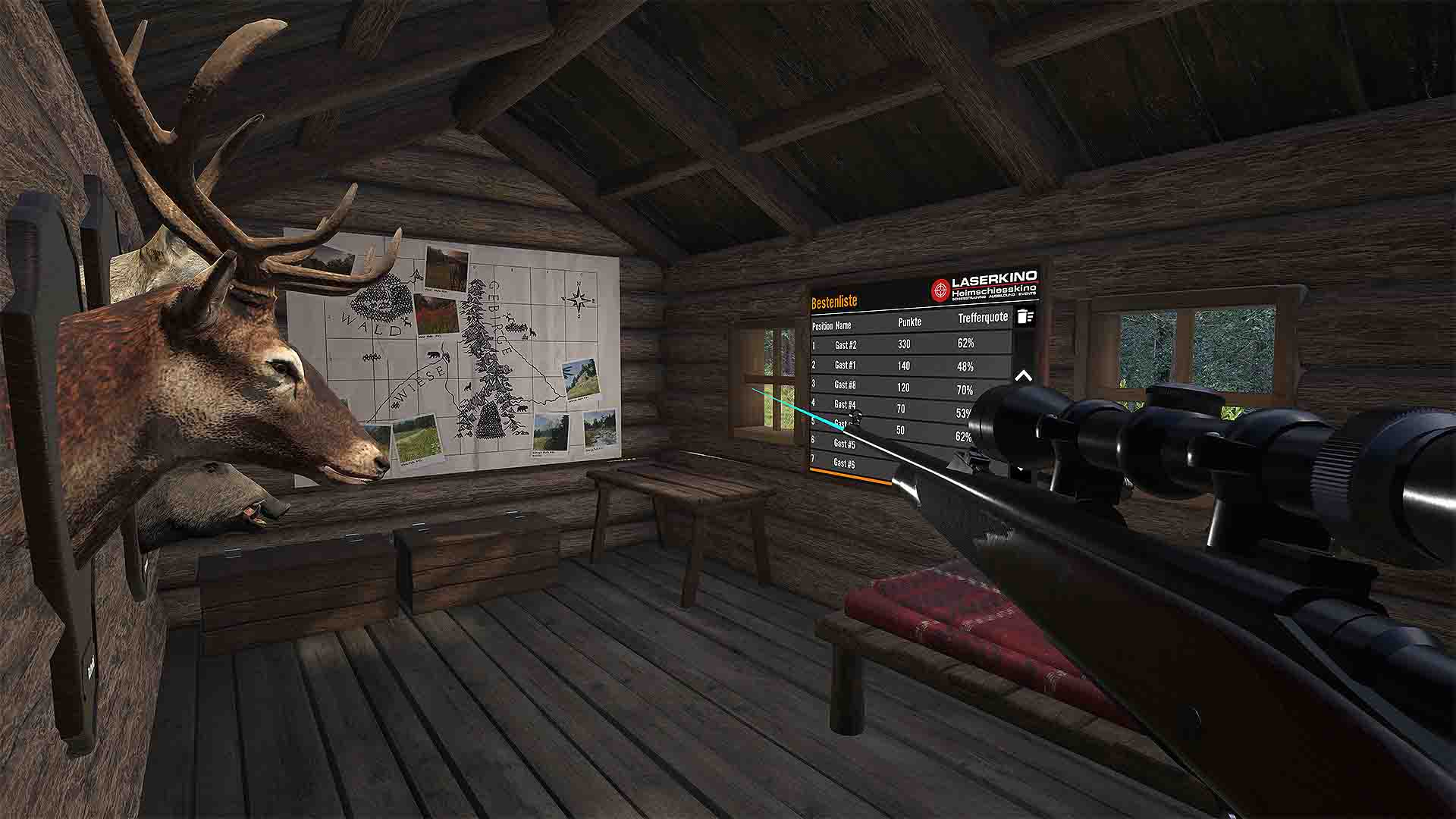 Clockstone VR Hunting Hütte