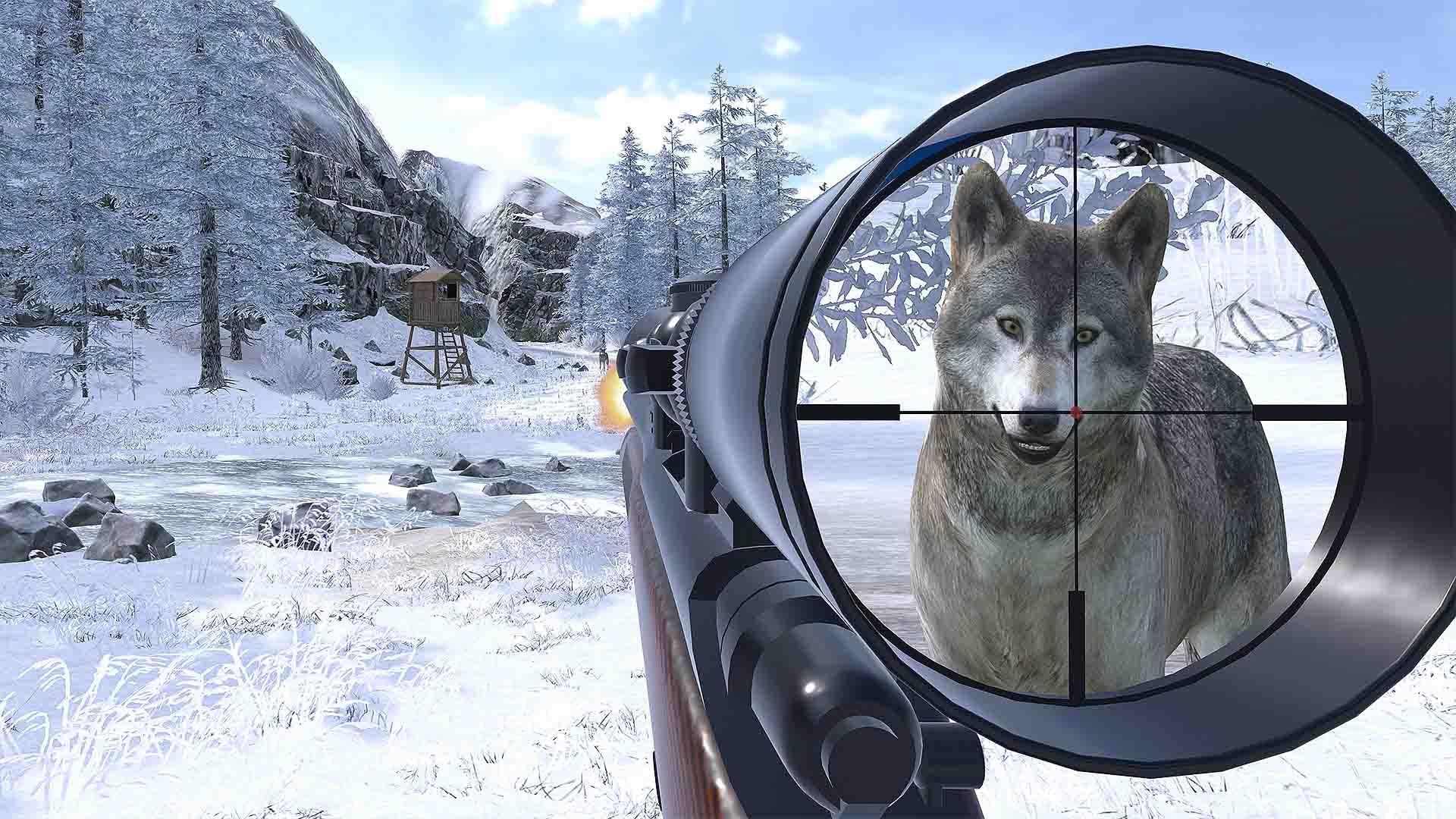 Clockstone VR Hunting Wolf im Visir