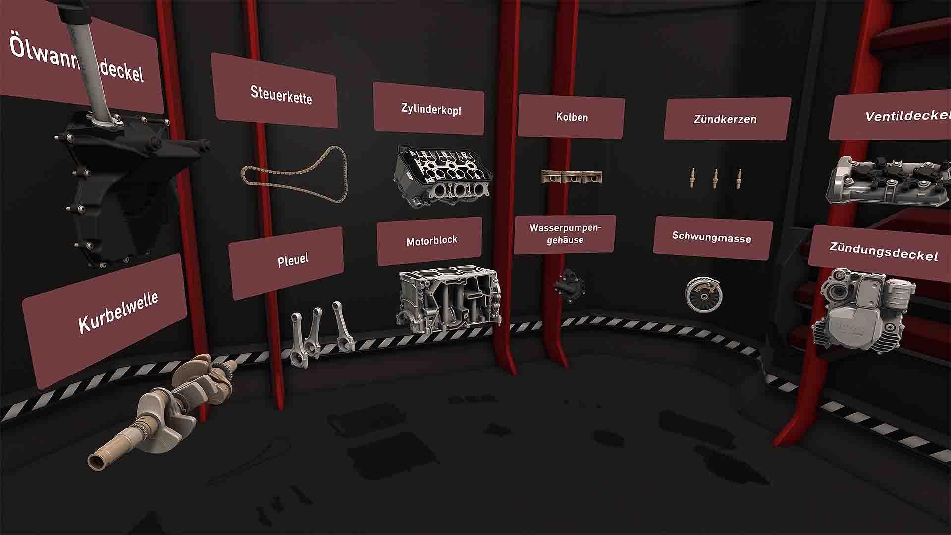 ROTAX VR-Assessment Motorteile Übersicht