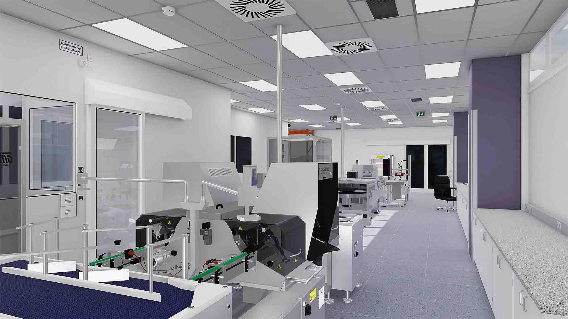 SANDOZ VR-Lineclearance Produktionslinie