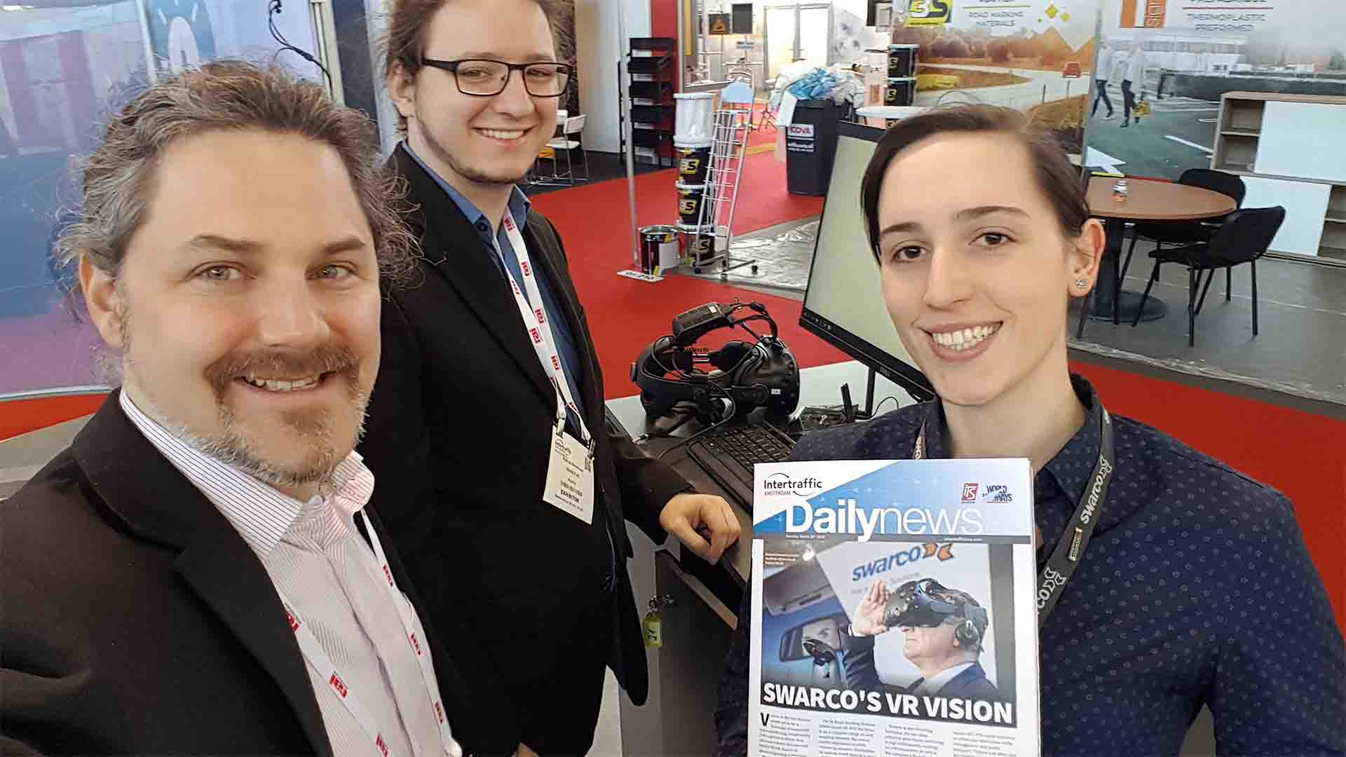 SWARCO VR Messestand