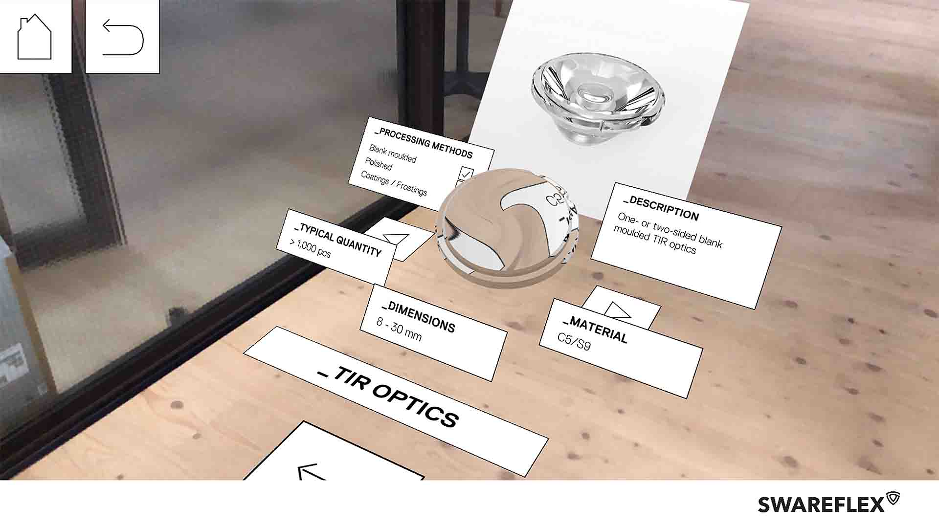 Swareflex AR Lenses Reflektoraufbau